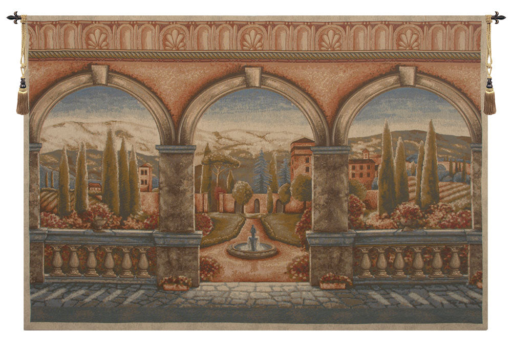Tuscan Arches Belgian Wall Tapestry - Tapestry Zest
