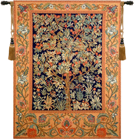 Tree of Life Orange Wall Tapestry - Tapestry Zest