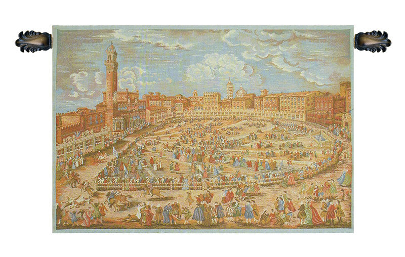 Siena Town Square Italian Wall Tapestry - Tapestry Zest