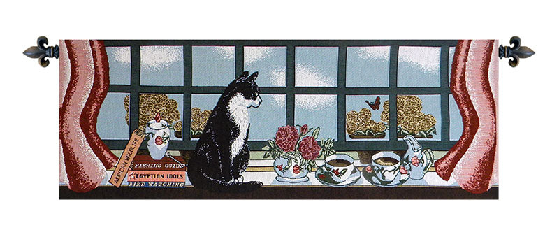 Cat Keeping Watch - Tapestry Zest