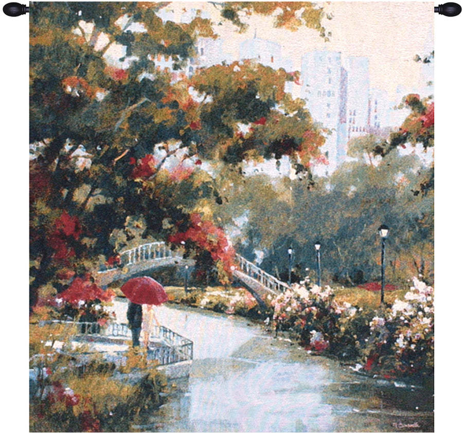 View from the Park Decorative Wall Tapestry - Tapestry Zest