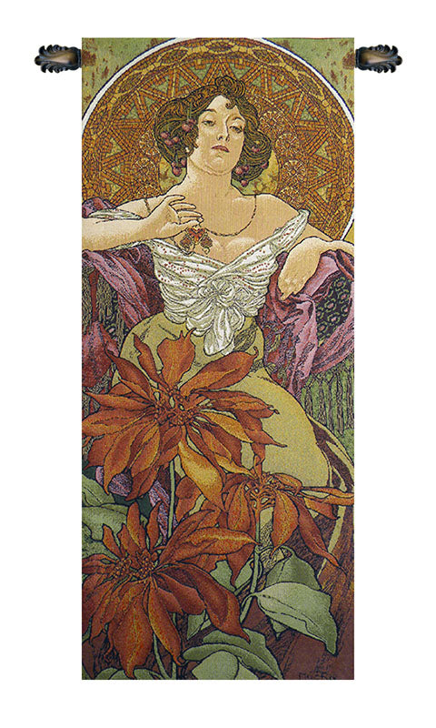 Mucha Rubis European Wall Tapestry - Tapestry Zest