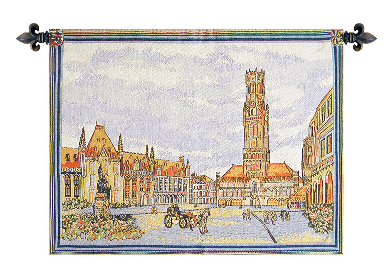 Views of Bruges European Wall Tapestry - Tapestry Zest