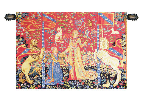 Lady and the Unicorn Taste Le Gout European Wall Tapestry - Tapestry Zest