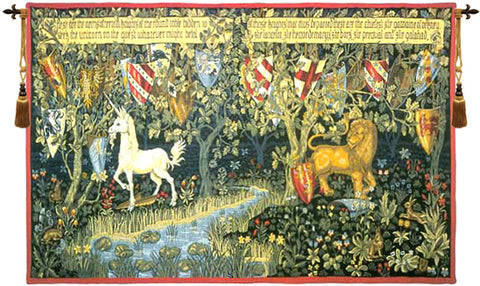 Knights of the Round Table French Wall Tapestry - Tapestry Zest