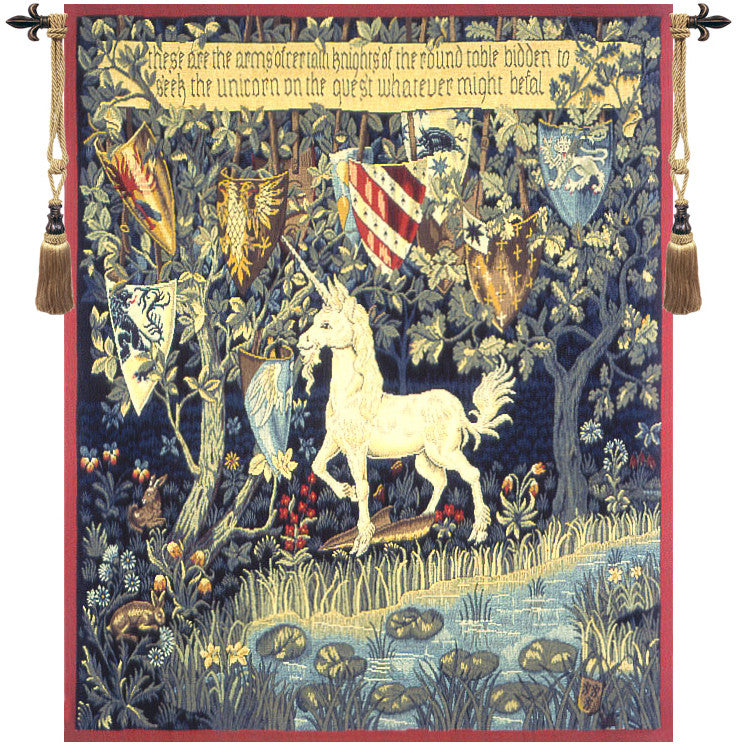 Heraldic Unicorn French Wall Tapestry - Tapestry Zest