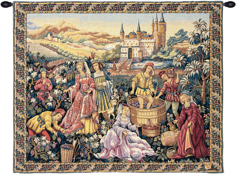 Vendanges au Chateau French Wall Tapestry - Tapestry Zest