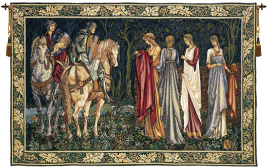 Departure of the Knights French Wall Tapestry - Tapestry Zest