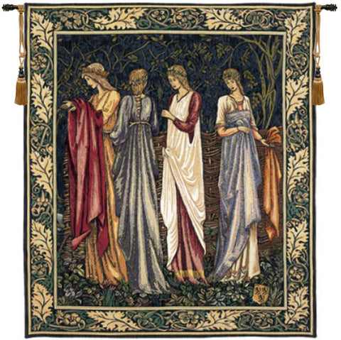 The Ladies of Camelot Les Dames de Camelot French Wall Tapestry - Tapestry Zest