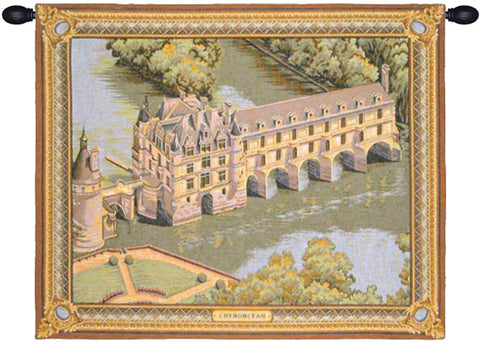 Chenonceau Castle French Wall Tapestry - Tapestry Zest