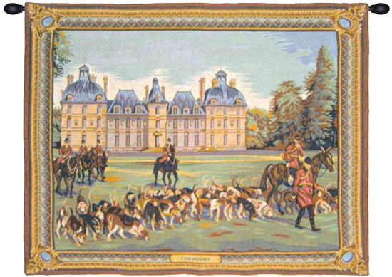 Cheverny Castle French Wall Tapestry - Tapestry Zest
