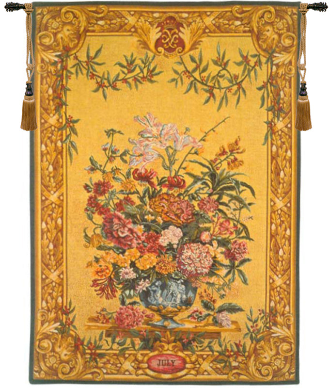 Vaux le Vicomete In July French Wall Tapestry - Tapestry Zest
