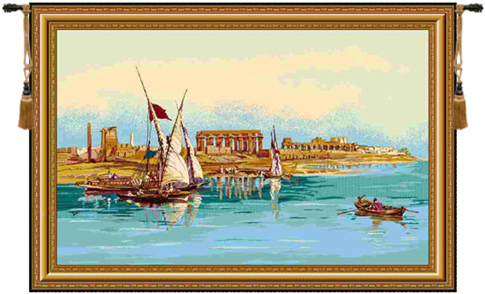 Temple of Luxor Tapestry Wall Tapestry - Tapestry Zest