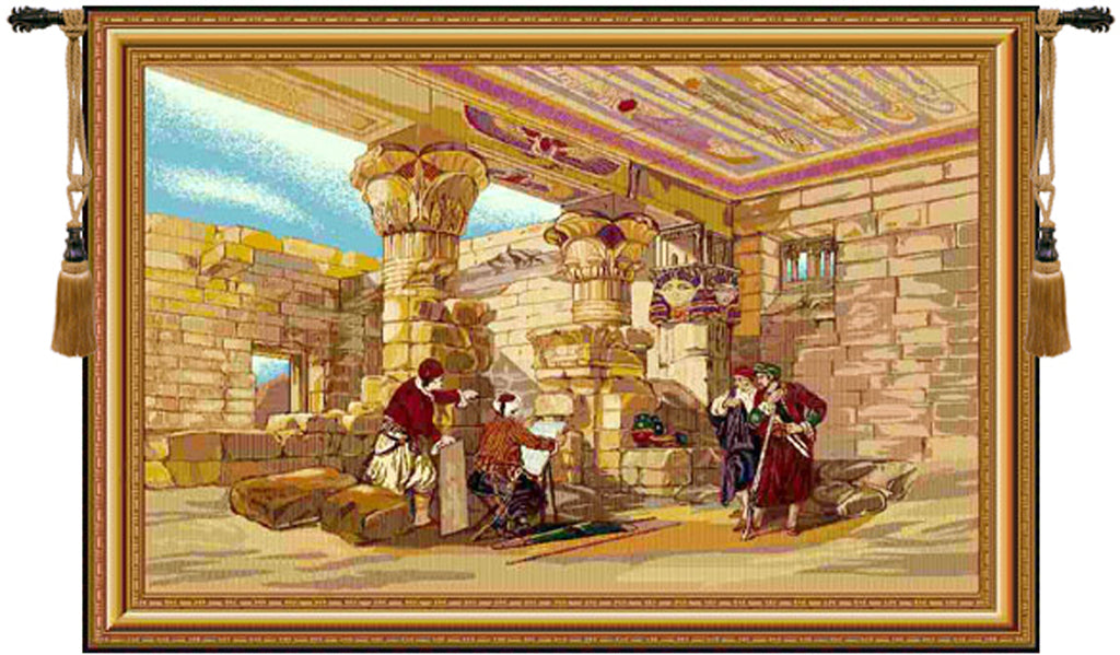 Temple of Ptolemy IV Tapestry Wall Tapestry - Tapestry Zest