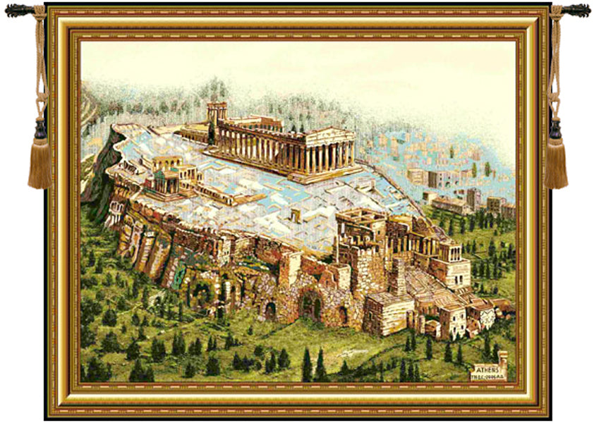 Acropolis Tapestry Wall Tapestry - Tapestry Zest