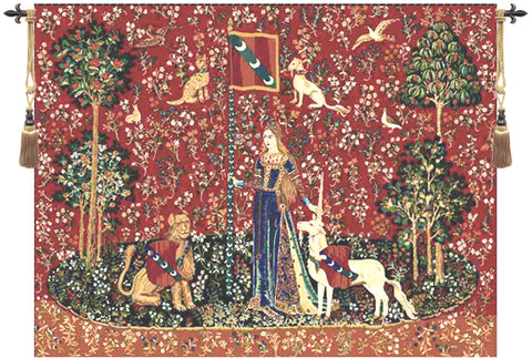Lady and the Unicorn Series Touch Wall Tapestry - Tapestry Zest