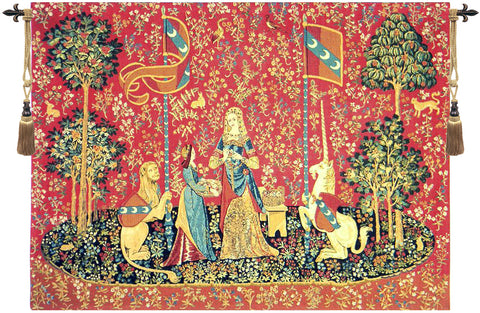 Lady and the Unicorn Smell Wall Tapestry - Tapestry Zest