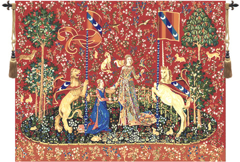 Lady and the Unicorn Series Taste Wall Tapestry - Tapestry Zest