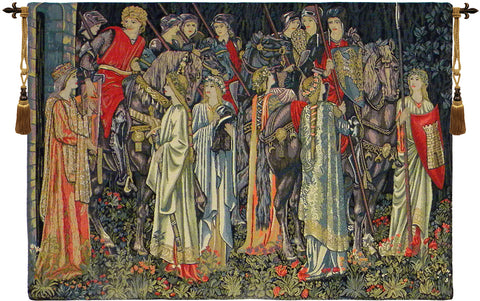 Group of Knights Quest for the Holy Grail Tapestry - Tapestry Zest