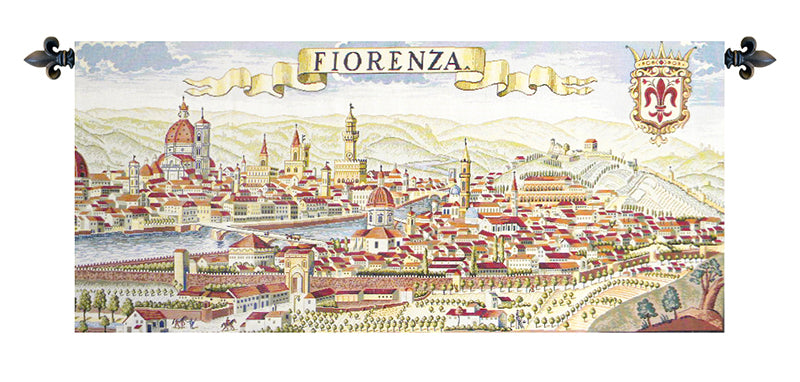 Florence Ancient Map Italian Wall Tapestry - Tapestry Zest
