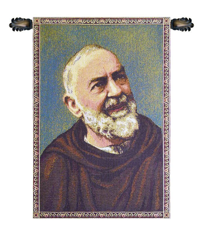 Padre Pio Father Pio Italian Wall Tapestry - Tapestry Zest