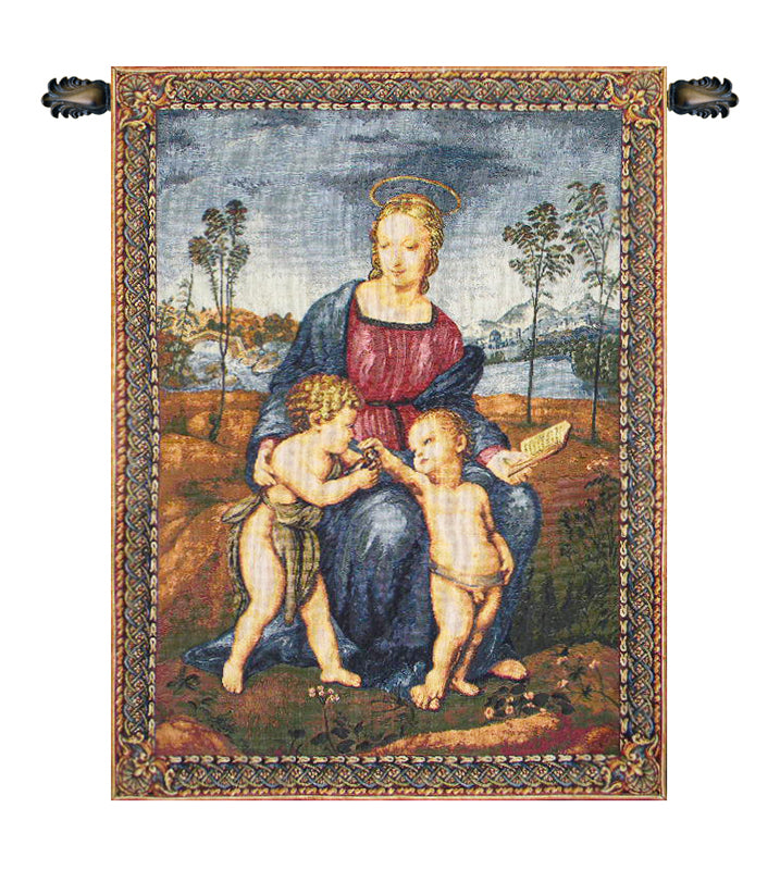 Madonna del Cardellino Italian Wall Tapestry - Tapestry Zest