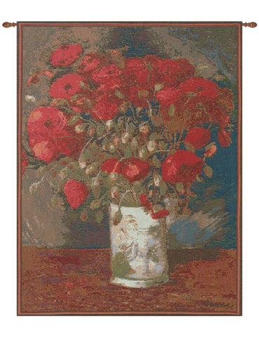 Poppies Van Gogh French Tapestry - Tapestry Zest