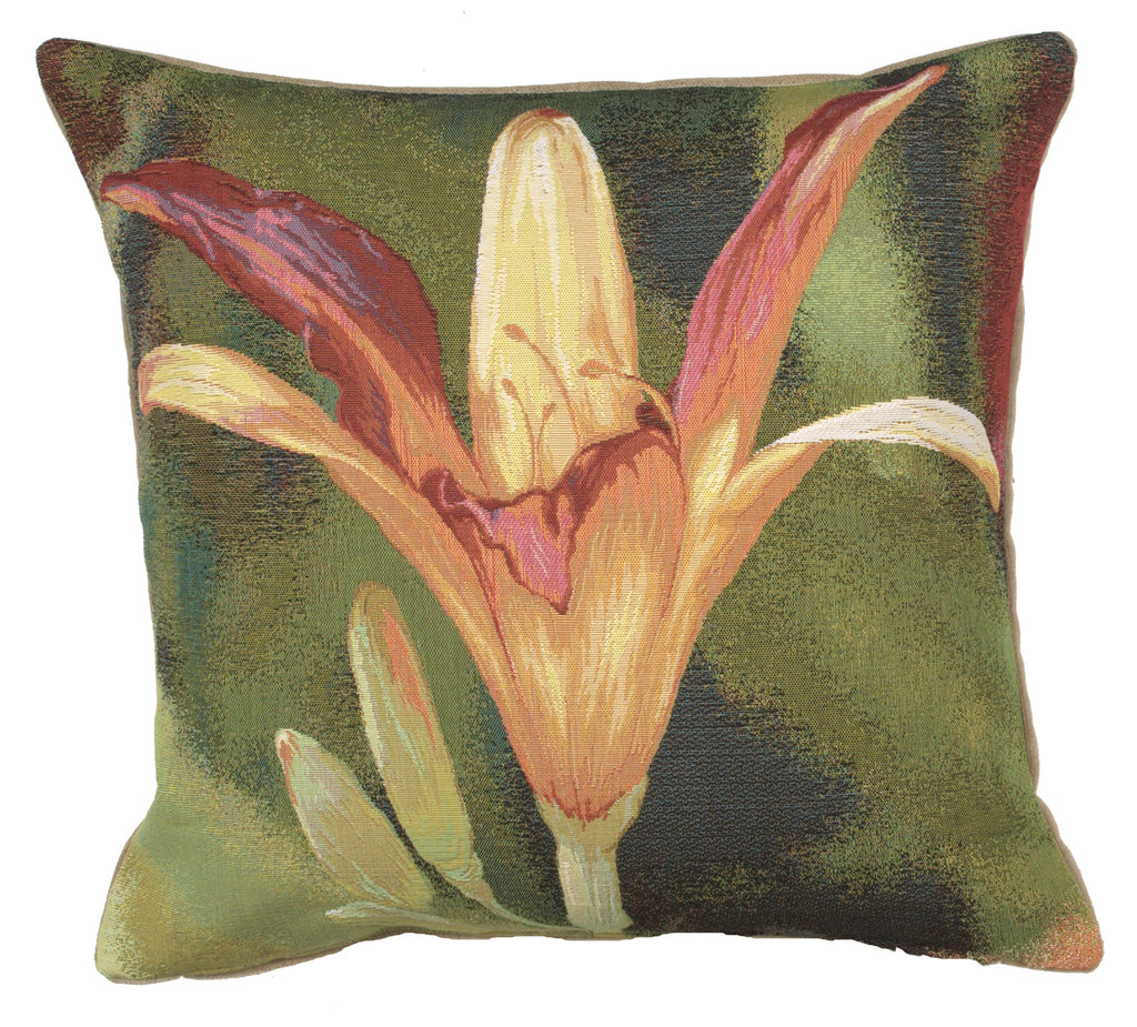 Fleur Orange Fond French Cushion Cover