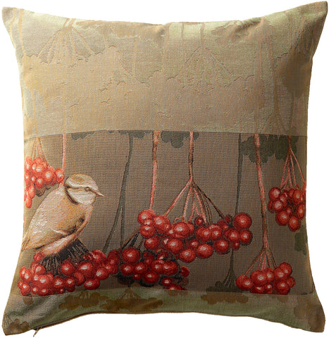 Bird with Berries French Cushion Cover