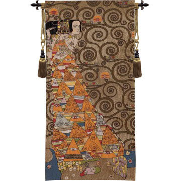 L'Attente Klimt a Gauche Or French Tapestry - Tapestry Zest