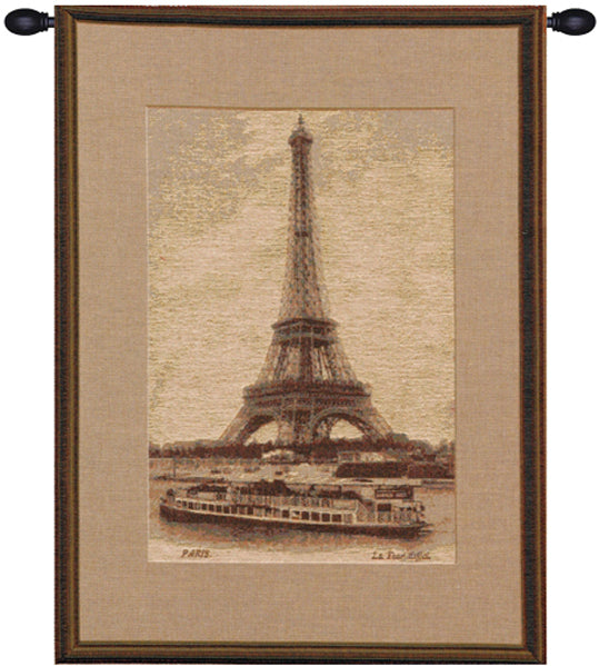 Eiffel Tower IV French Tapestry - Tapestry Zest