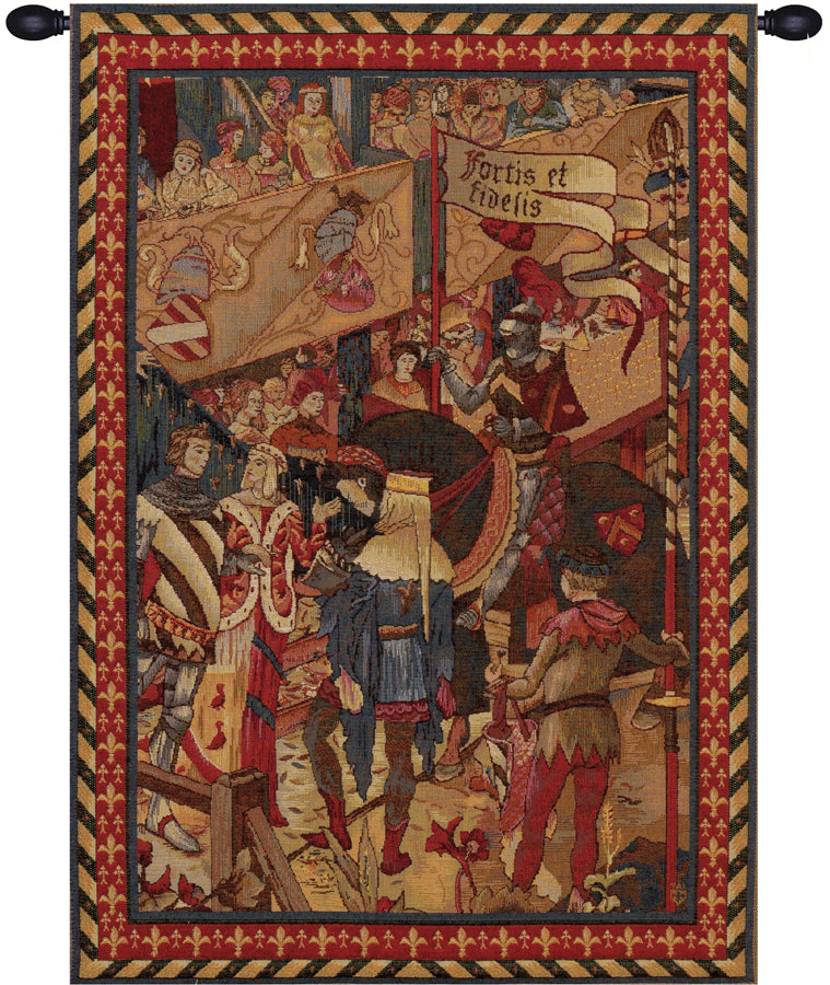 Le Tournai Vertical French Tapestry - Tapestry Zest