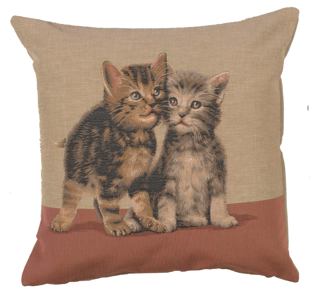 Two Kittens French Cushion Cover