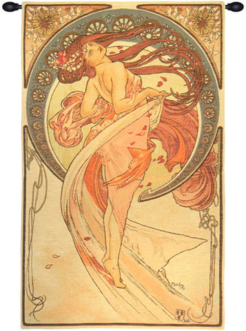 Dance by Mucha French Wall Tapestry - Tapestry Zest