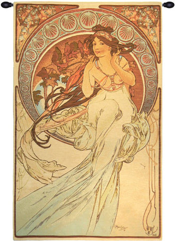 Music by Mucha French Wall Tapestry - Tapestry Zest
