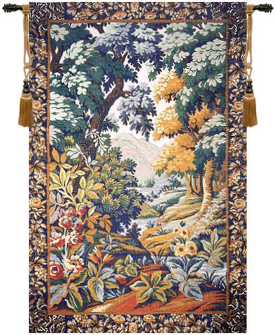 Landscape with Flowers European Wall Tapestry - Tapestry Zest