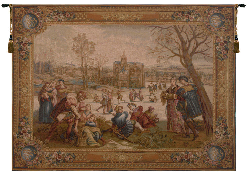 Les Patineurs French Tapestry - Tapestry Zest