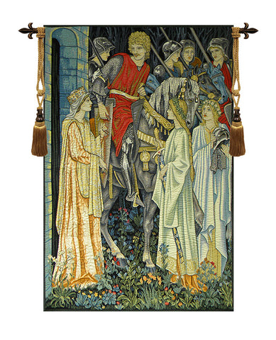 The Holy Grail Left Panel European Wall Tapestry - Tapestry Zest
