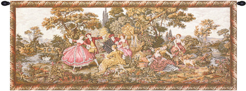 Scenes Galantes Italian Wall Tapestry - Tapestry Zest