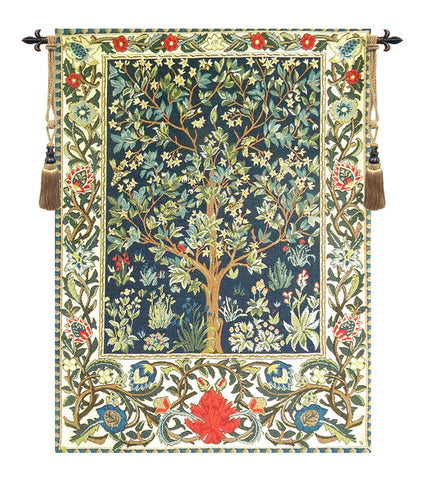 "Tree of Life European Wall Tapestry, 24""x19"""