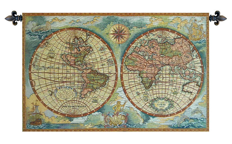 Antique Map Italian Wall Tapestry - Tapestry Zest