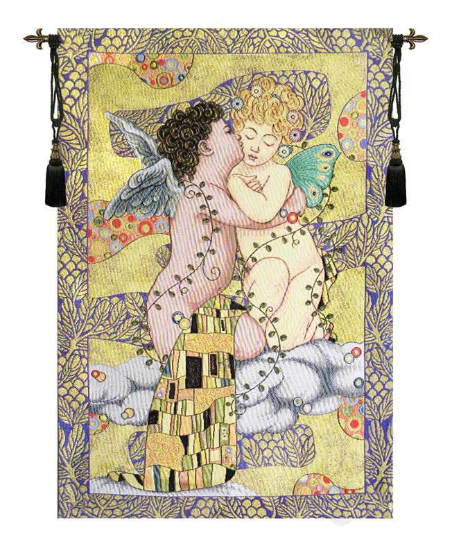 The First Kiss Italian Wall Tapestry - Tapestry Zest