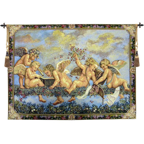 Les Angelots French Wall Tapestry - Tapestry Zest