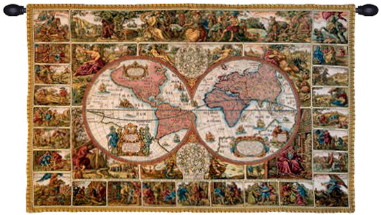 Mappemonde French Wall Tapestry - Tapestry Zest