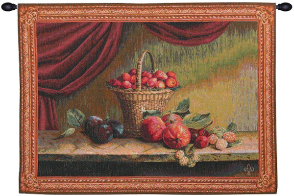 Basket of Strawberries French Tapestry - Tapestry Zest