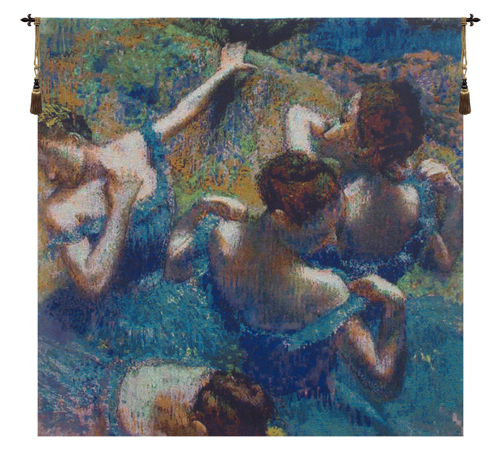 Blue Dancers European Wall Tapestry - Tapestry Zest