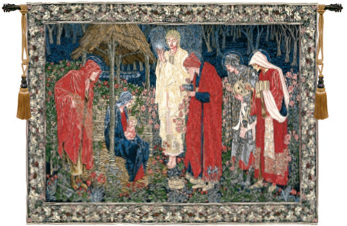 The Adoration of the Magi European Wall Tapestry - Tapestry Zest