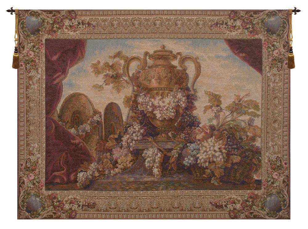 Vase and Raisins French Tapestry - Tapestry Zest