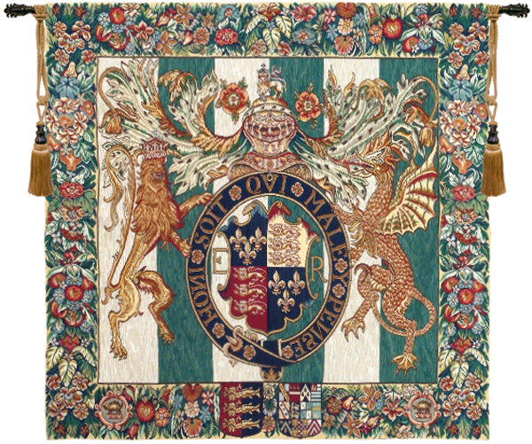Royal Arms of England European Wall Tapestry - Tapestry Zest