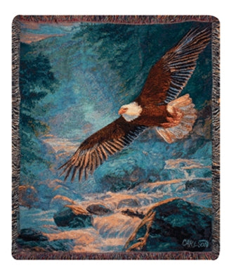 American Majesty Eagle Afghan Throw